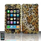 Hard Rhinestone Design Case for Apple iPhone 3G/3Gs - Cheetah