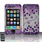 Hard Rhinestone Design Case for Apple iPhone 3G/3Gs - Purple Gems