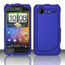 Hard Rubber Feel Plastic Case for HTC DROID Incredible 2 6350 (Verizon) - Blue