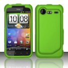 Hard Rubber Feel Plastic Case for HTC DROID Incredible 2 6350 (Verizon) - Neon Green