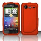 Hard Rubber Feel Plastic Case for HTC DROID Incredible 2 6350 (Verizon) - Orange
