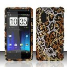 Hard Rhinestone Design Case for HTC EVO Design 4G - Cheetah