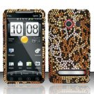 Hard Rhinestone Design Case for HTC EVO 4G - Cheetah
