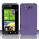 Hard Rubber Feel Plastic Case for HTC Titan X310e (AT&T) - Purple