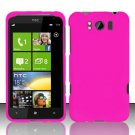 Hard Rubber Feel Plastic Case for HTC Titan X310e (AT&T) - Rose Pink