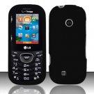 Hard Rubber Feel Plastic Case for LG Cosmos 2 VN251 (Verizon) - Black