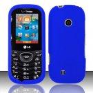 Hard Rubber Feel Plastic Case for LG Cosmos 2 VN251 (Verizon) - Blue