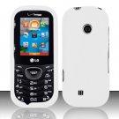Hard Rubber Feel Plastic Case for LG Cosmos 2 VN251 (Verizon) - White