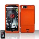 Hard Rubber Feel Plastic Case for Motorola Droid X MB810 (Verizon) - Orange