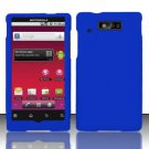 Hard Rubber Feel Plastic Case for Motorola Triumph WX435 (Virgin Mobile) - Blue