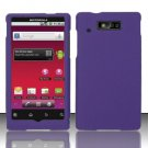 Hard Rubber Feel Plastic Case for Motorola Triumph WX435 (Virgin Mobile) - Purple
