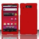 Hard Rubber Feel Plastic Case for Motorola Triumph WX435 (Virgin Mobile) - Red