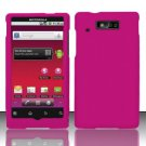 Hard Rubber Feel Plastic Case for Motorola Triumph WX435 (Virgin Mobile) - Pink