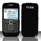 Hard Rubber Feel Plastic Case for Nokia E71 - Black