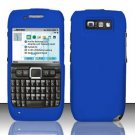 Hard Rubber Feel Plastic Case for Nokia E71 - Blue