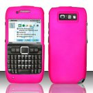 Hard Rubber Feel Plastic Case for Nokia E71 - Hot Pink