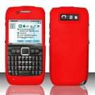 Hard Rubber Feel Plastic Case for Nokia E71 - Red