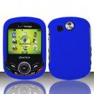 Hard Rubber Feel Plastic Case for Pantech Jest 2 - Blue