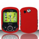 Hard Rubber Feel Plastic Case for Pantech Jest 2 - Red