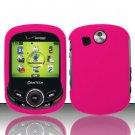 Hard Rubber Feel Plastic Case for Pantech Jest 2 - Rose Pink