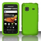 Hard Rubber Feel Plastic Case for Samsung Galaxy Prevail M820 - Neon Green