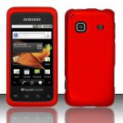 Hard Rubber Feel Plastic Case for Samsung Galaxy Prevail M820 - Red
