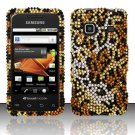Hard Rhinestone Design Case for Samsung Galaxy Prevail M820 - Cheetah