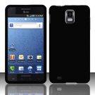 Hard Rubber Feel Plastic Case for Samsung Infuse 4G - Black