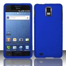 Hard Rubber Feel Plastic Case for Samsung Infuse 4G - Blue