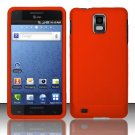 Hard Rubber Feel Plastic Case for Samsung Infuse 4G - Orange