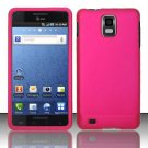 Hard Rubber Feel Plastic Case for Samsung Infuse 4G - Rose Pink