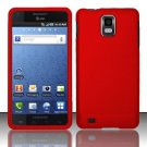 Hard Rubber Feel Plastic Case for Samsung Infuse 4G - Red