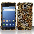 Hard Rhinestone Design Case for Samsung Infuse 4G - Cheetah