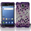 Hard Rhinestone Design Case for Samsung Infuse 4G - Purple Gems