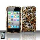 Hard Rhinestone Design Case for Apple iPod Touch 4 - Cheetah