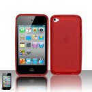 TPU Crystal Gel Case for Apple iPod Touch 4 - Red