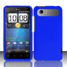 Hard Rubber Feel Plastic Case for HTC Vivid (AT&T) - Blue