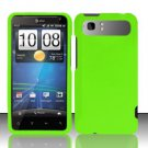 Hard Rubber Feel Plastic Case for HTC Vivid (AT&T) - Neon Green