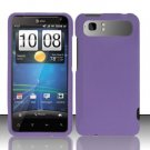 Hard Rubber Feel Plastic Case for HTC Vivid (AT&T) - Purple