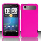 Hard Rubber Feel Plastic Case for HTC Vivid (AT&T) - Rose Pink