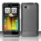 Hard Rubber Feel Design Case for HTC Vivid (AT&T) - Carbon Fiber