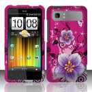 Hard Rubber Feel Design Case for HTC Vivid (AT&T) - Hibiscus Flowers