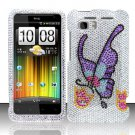 Hard Rhinestone Design Case for HTC Vivid (AT&T) - Colorful Butterfly