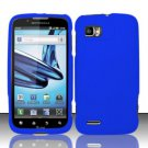 Hard Rubber Feel Plastic Case for Motorola Atrix 2 MB865 (AT&T) - Blue