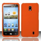 Hard Rubber Feel Plastic Case for LG Spectrum/Revolution 2 VS920 - Orange