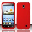 Hard Rubber Feel Plastic Case for LG Spectrum/Revolution 2 VS920 - Red