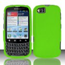 Hard Rubber Feel Plastic Case for Motorola Admiral XT603 (Sprint) - Neon Green