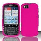 Hard Rubber Feel Plastic Case for Motorola Admiral XT603 (Sprint) - Rose Pink