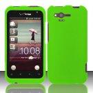 Hard Rubber Feel Plastic Case for HTC Rhyme (Verizon) - Neon Green
