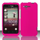 Hard Rubber Feel Plastic Case for HTC Rhyme (Verizon) - Rose Pink